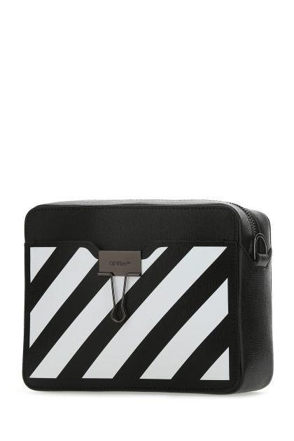 Black leather Diag crossbody bag