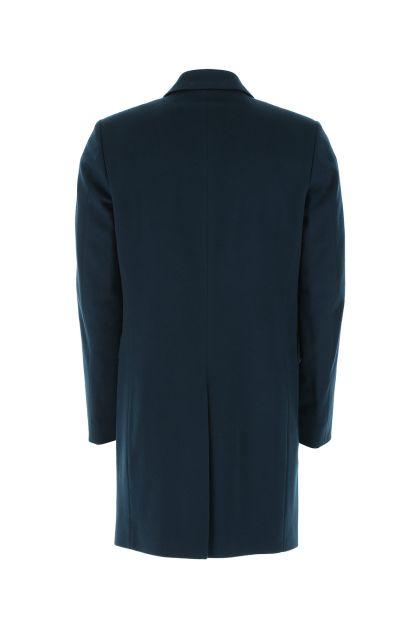 Teal green wool blend coat