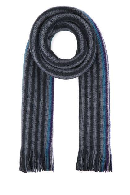 Multicolor wool scarf