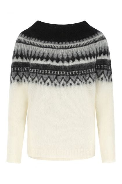 Multicolor mohair blend sweater