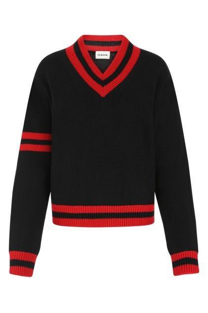 Black wool Lamar sweater