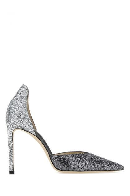 Silver leather Beanne 100 pumps
