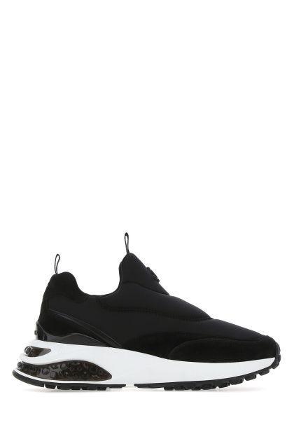 Black fabric Memphis sneakers