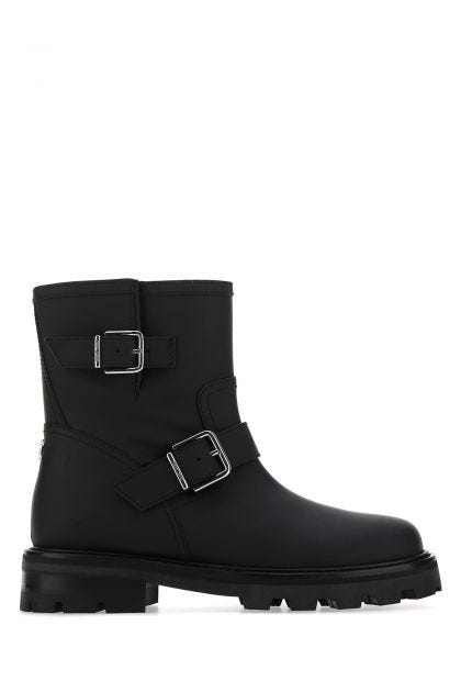 Black leather Youth II boots