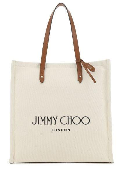 Ivory canvas shopping bag