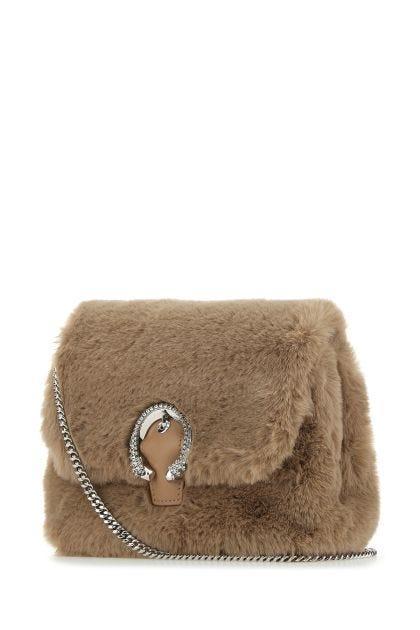 Biscuit eco fur Madeline clutch