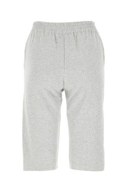 Melange grey stretch cotton bermuda shorts