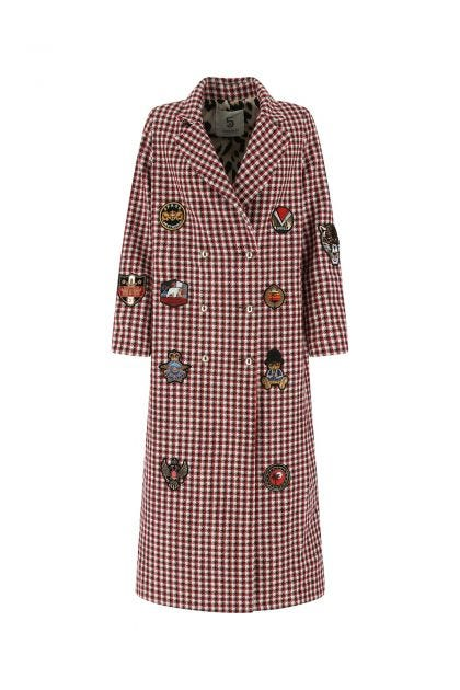Embroidered polyester blend coat