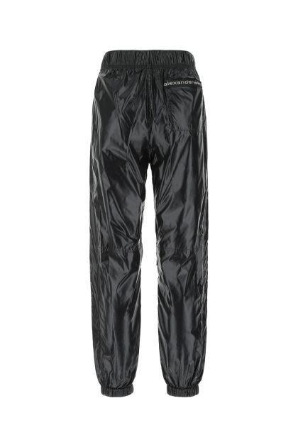 Black nylon joggers