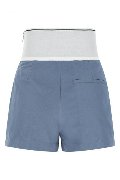 Air Force blue cotton blend shorts