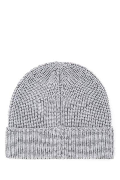 Light grey wool beanie hat