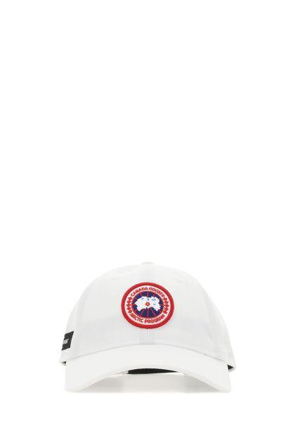 White cotton baseball cap