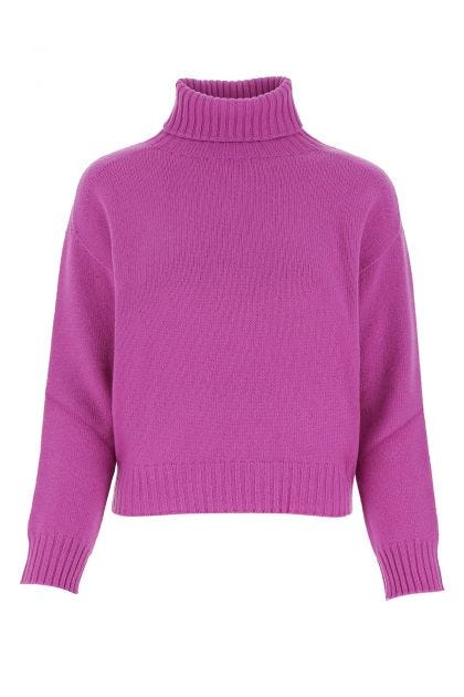 Amethyst wool and cashmere oversize sweater