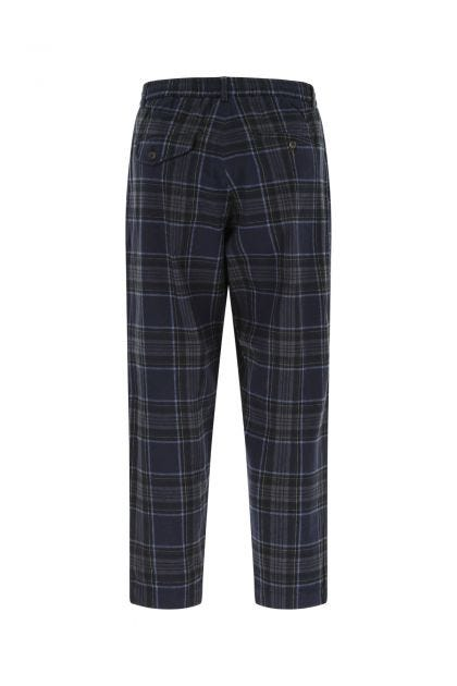 Embroidered flannel pant