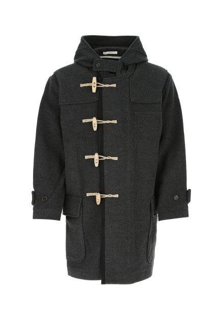 Charcoal wool blend coat