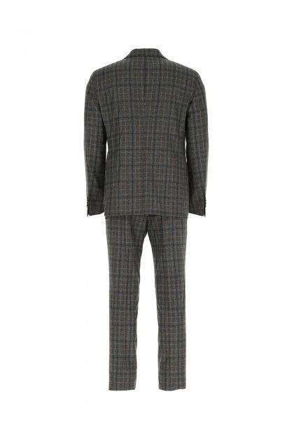 Embroidered wool suit