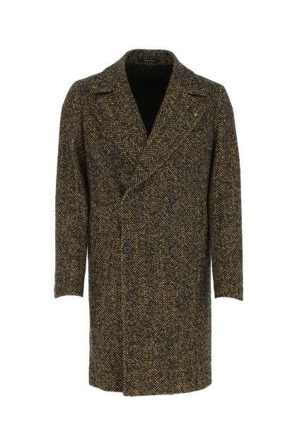 Embroidered wool blend Arden coat