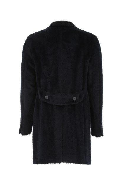 Midnight blue alpaca blend coat