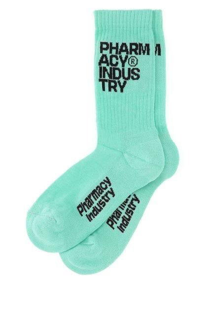 Mint green cotton socks