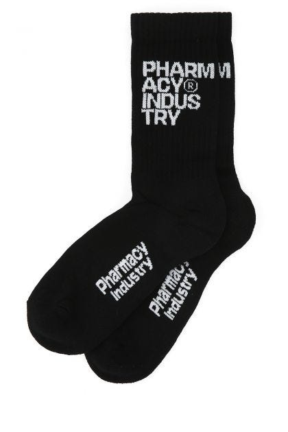 Black stretch cotton socks