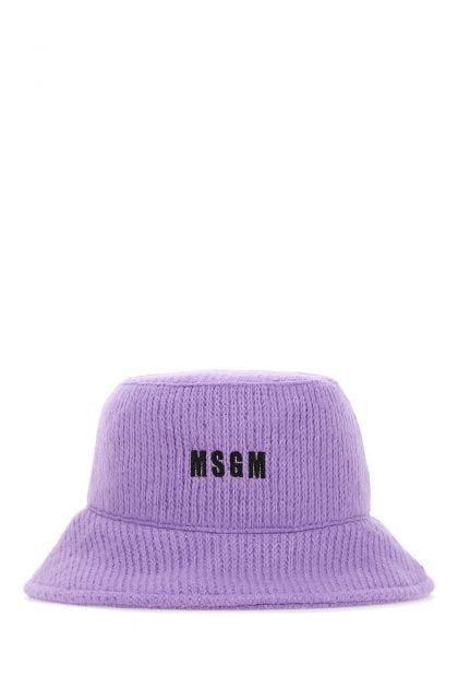 Lilac acrylic blend bucket hat