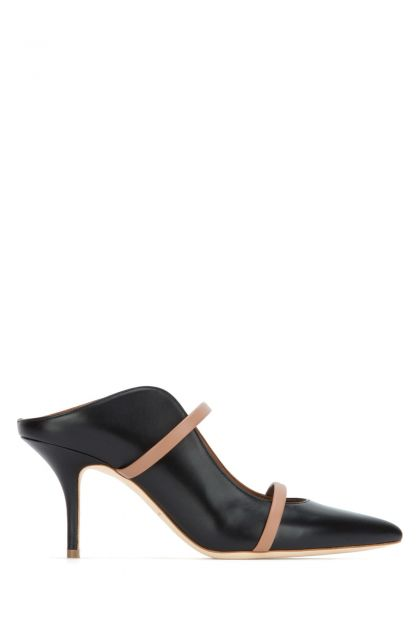 Black leather Maureen mules