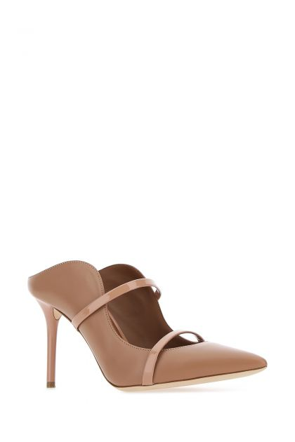 Two-tone leather Maureen mules