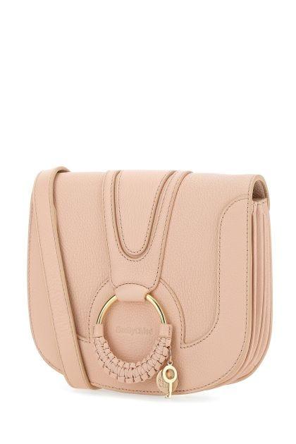 Pastel pink leather Hana SBC crossbody bag