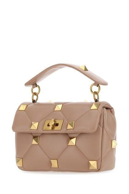 Powder pink nappa leather medium Roman Stud handbag