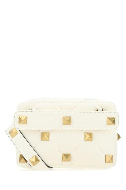 Ivory leather Roman Stud handbag