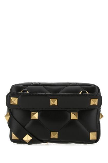 Black nappa leather Roman Stud handbag