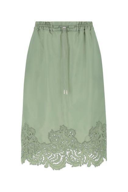 Sage green nylon skirt