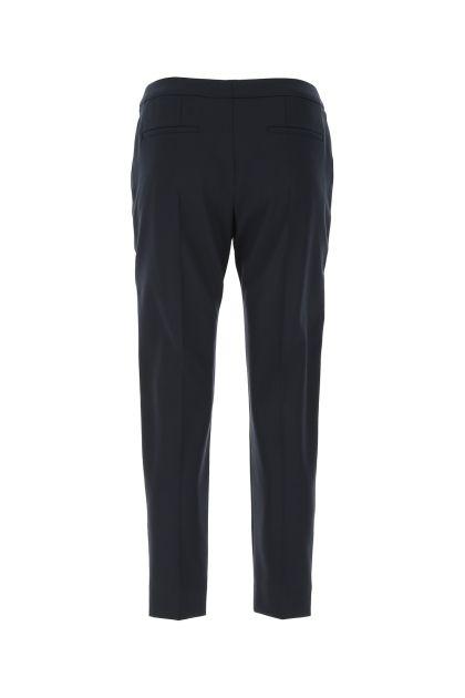 Navy blue stretch wool pant