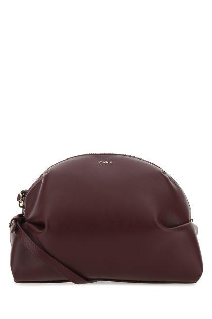 Burgundy leather mini Judy shoulder bag