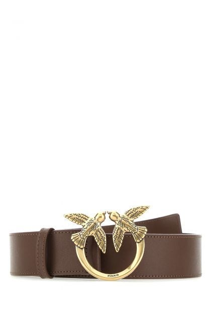 Brown leather Love Berry belt