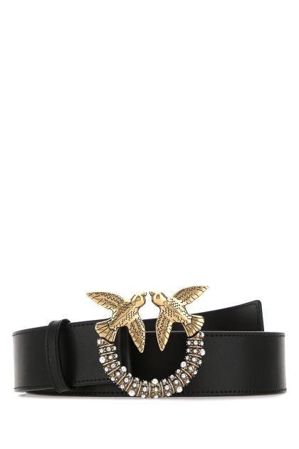 Black Love Jewel leather belt