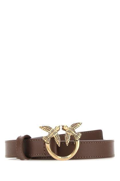 Black leather Love Berry belt
