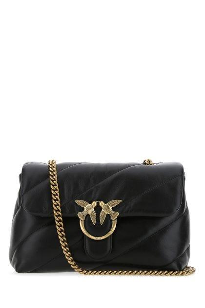 Black leather Classic Love crossbody bag