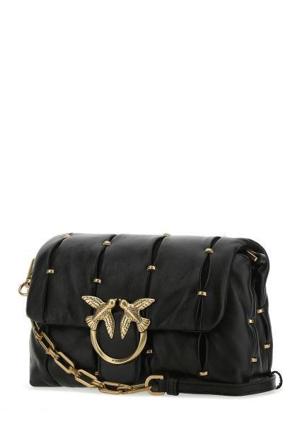 Black nappa leather Love crossbody bag