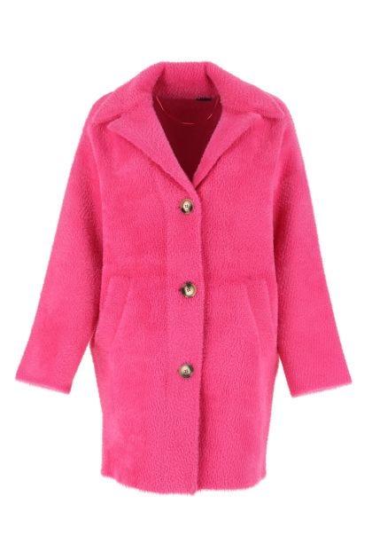 Fuchsia eco fur coat