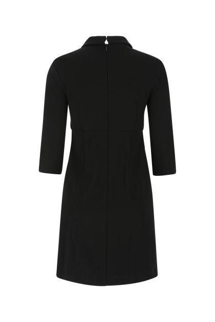 Black stretch viscosa blend mini dress