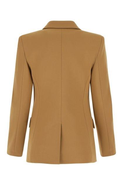 Camel stretch viscose blend blazer
