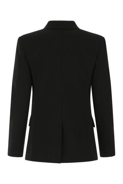 Black stretch viscose blend blazer