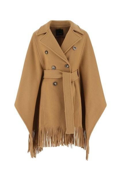 Camel wool blend cape