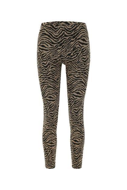 Embroidered stretch viscose blend leggings