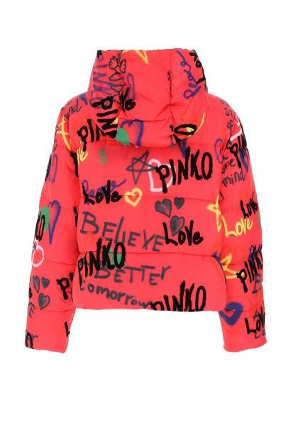 Printed polyester padded jacket