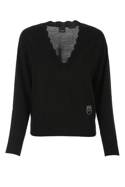 Black wool top