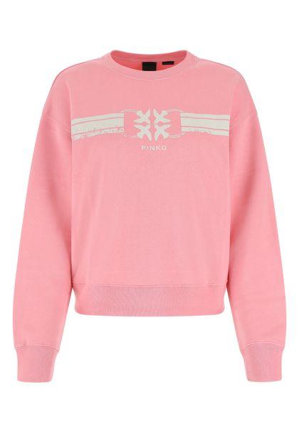 Pink cotton blend sweatshirt