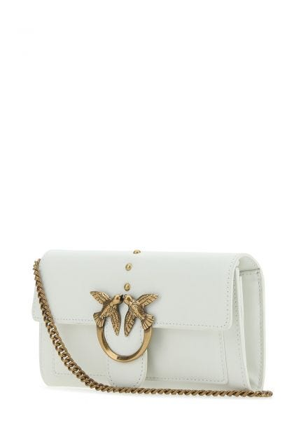 White leather Love clutch