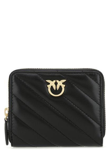 Black nappa leather wallet